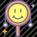 baby, maraca, toy icon