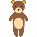 animal, bear, child, cute, kid, teddy bear, toy icon