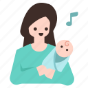 baby, child, kid, lull, lullaby, mom, mommy icon