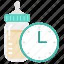 alert, baby, child, kid, milk, schedule, time icon