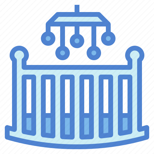 bassinet, bed, cot, cradle icon