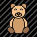 bear, doll, kid, toy