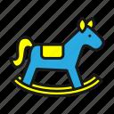 baby, children, horse, toys