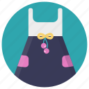 apparel, colorful frock, girl dress, kids garment, summer dress icon