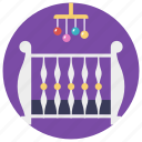 baby mobile, crib mobile, hanging, musical mobile, musical toy icon