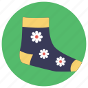 baby socks, clothes, footwear, stockings, winter clothes icon