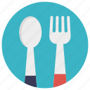 cutlery, dinnerware, feeding tools, fork, kitchen ware, spoon icon