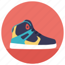 gym shoe, joggers, running shoe, shoe, sports shoe icon