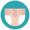 baby diaper, cloth diaper, diaper, nappy, pamper icon
