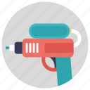 handgun toy, kids toy, plastic gun, toy gun, toy pistol icon