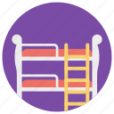bed, bed with stairs, bunk bed, furniture, kids bed, kids room icon