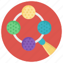 baby rattle, colorful rattle, pacifier, teething toy icon