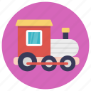 baby toy, colorful train, model train, toy train, train engine icon