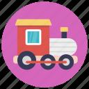 baby toy, colorful train, model train, toy train, train engine icon