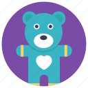 baby toy, bear, stuff toy, stuffed, teddy bear icon