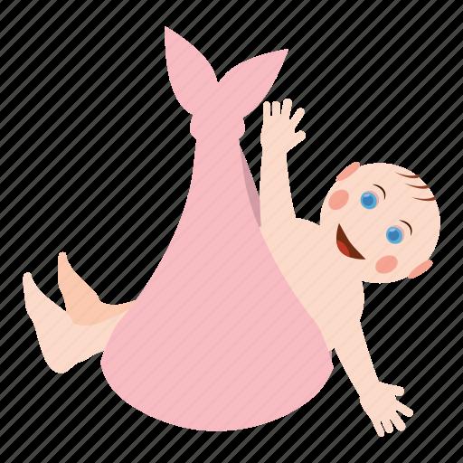 cartoon, child, childhood, cute, kid, little, shawl icon