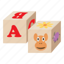 baby, block, cartoon, cubes, education, play, toy icon