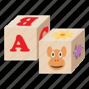baby, block, cartoon, cubes, education, play, toy