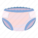 baby, cartoon, child, diaper, nappy, newborn, protection icon