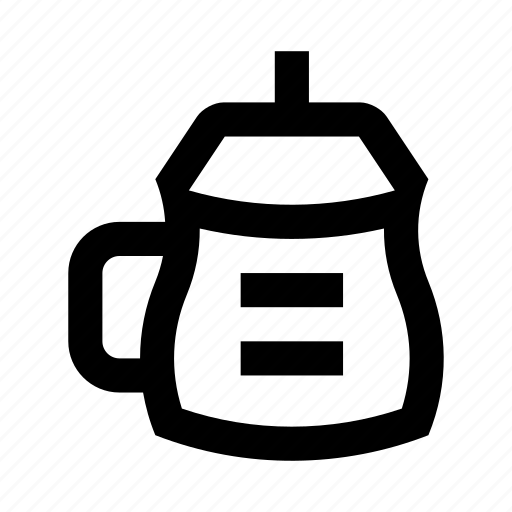 baby, bottle, bowl, dish, drinking, tableware, water icon