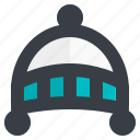 baby, cap, child, children, kid, winter, woolen icon