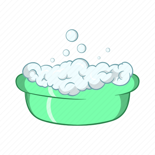 baby, bath, bubble, cartoon, child, clean, foam icon