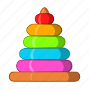 baby, cartoon, child, game, play, pyramid, toy icon
