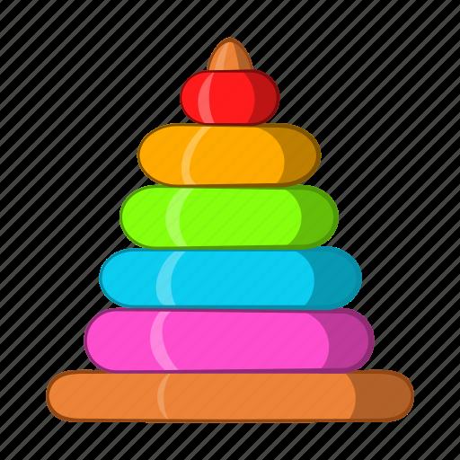 baby, cartoon, child, game, play, pyramid, toy icon