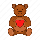 animal, bear, cartoon, cute, heart, teddy, toy icon