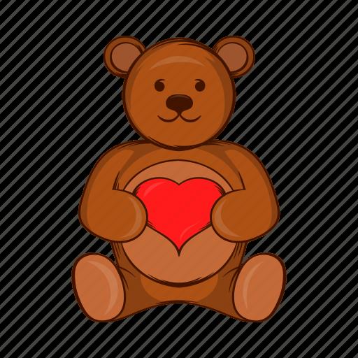 animal, bear, cartoon, cute, heart, teddy, toy icon