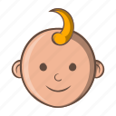 baby, boy, cartoon, child, face, kid, little icon