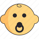 baby, boy, head, newborn, pacifier icon