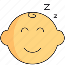 baby, boy, head, newborn, sleep icon
