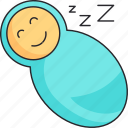 baby, boy, newborn, sleep, swaddle icon