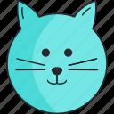 animal, boy, cat, pet icon