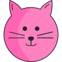 animal, cat, girl, pet icon