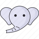 animal, animals, elephant, zoo icon