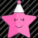 girl, sleep, star icon