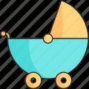 baby, boy, stroller icon