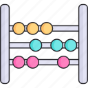 abacus, calculator, mathematics, maths, toy icon