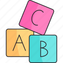baby, cubes, game, kids, toy icon