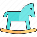 boy, game, horse, kids, toy icon