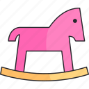 game, girl, horse, kids, toy icon