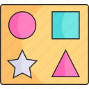 baby, children, kid, shapes, toy icon