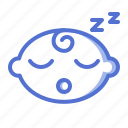 baby, boy, emoticon, fun, kid, slep icon