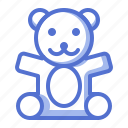 baby, bear, doll, fun, kid, toy icon