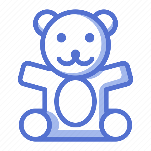 baby, bear, doll, fun, kid, toy icon