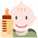 baby, happy, hungry, milk, toddler icon