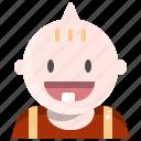 baby, happy, kid, smile, toddler icon