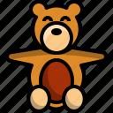 baby, bear, doll, kid, toddler icon